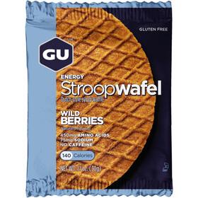 GU Energy Stroop Waffel Box Glutenfrei 16x32g Wildbeere